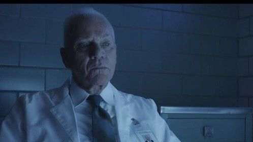 MAKEUP for Malcolm McDowell as Dr. Stenson in SANITARIUM