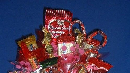 Romance Candy Bouquet - http://www.candybouquetllc.com/romance-with-heart-candy-bouquet/