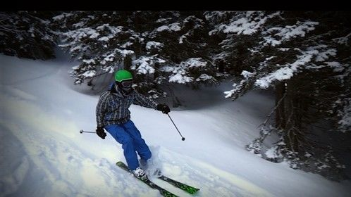 IMA SKIING IN THE DEEP SNOW!!