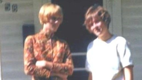 Me and my sister on our front porch in Omaha, NE. Loved my Neru suit jacket. It is 1965 and I was 15 years old.
