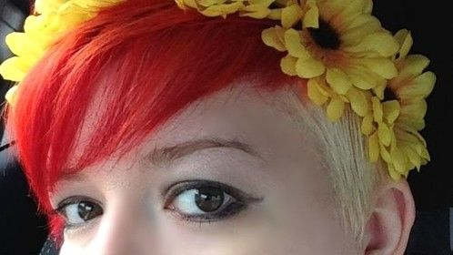 Fiery flower child. Nymph. Try to catch me.