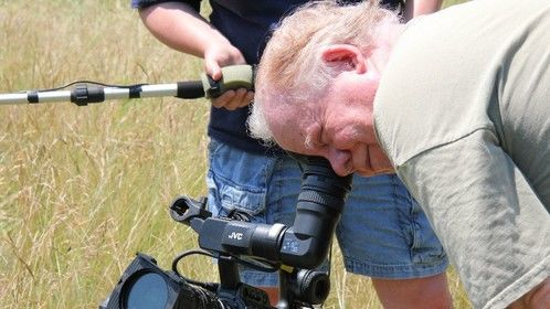 Director, writer, editor John McCarty lines up a shot for THIRST: A CIVIL WAR STORY (Leering Buzzard Pictures, 2009).