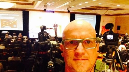 Working 2-cameras for high-tech seminar event in Silicon Valley, Ca., (Oct. 2014).
