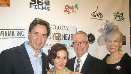 Jeffrey Umberger, Sloane Warren, Brian Bremer, and Catherine Dyer at the premiere of Bless Yer Heart TV