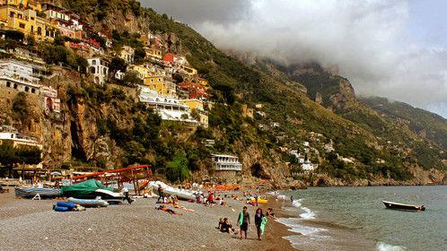 Beach Scene in Positano
