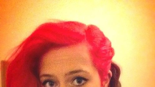 Current photo of myself with red hair