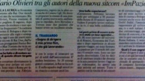 Italian local newspaper IL RESTO DEL CARLINO - 21.10.2014