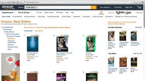 Windfork Secrets; Amazon #1 Best-seller in Teen/YA Mystery/Detective category; 10/25/2014