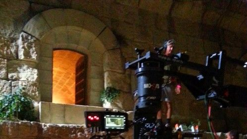 On set : Clavius shoot in Malta