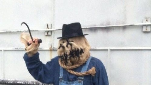 """I decided to dress like Patch the serial killer returned from the grave in my short, """"The Stairwell."""" Imagine meeting me in the bottom of a dark stairwell after hours."""