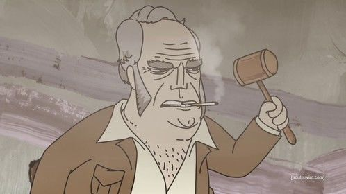"Squidbillies Episode 806: ""A Walk To Dignity"" - The Chairman Available at http://www.adultswim.com/videos/squidbillies"