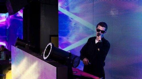"Brandon ""BLP"" Lowe doing a DJ set on the set of the VFS short film ""Parallax""."