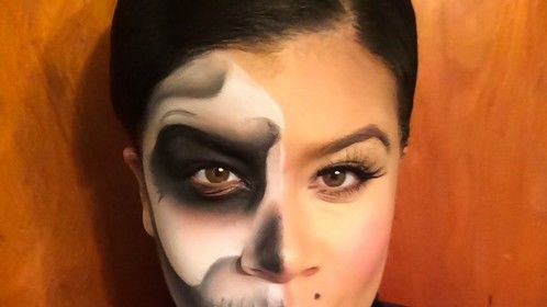 My first post. My makeup for Halloween