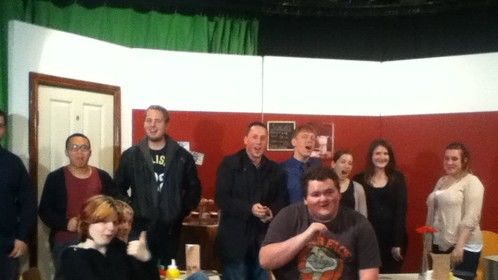 Some of the cast and crew of Clanfield Coast