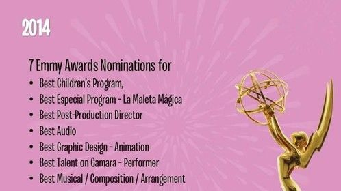 7 Latin Emmy Nominations for the children Tv show i write