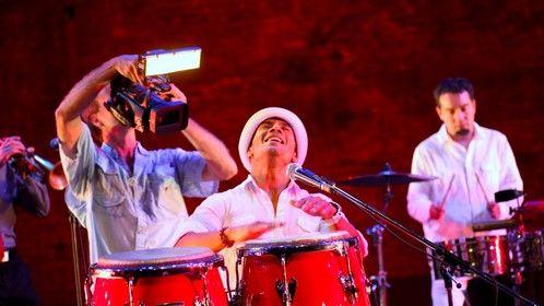 Shooting Afro-Cuban Salsa band video