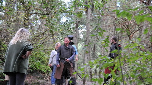 Setting up the next shot. All Stills of the filming of the pilot were taken by Stephen McGregor.
