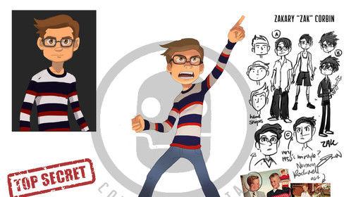 Character design: Zak from ZAK CORBIN AND THE MASTER OF MACHINES