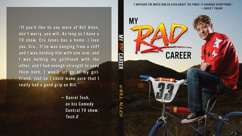 "Bill Allen, for his book ""My Rad Career"", a tell-all book about a Hollywood actor who was best friends with Brandon Lee, on- and off-screen romances and more. I photographed him on a replica of the bike he rode in the 1986 coming-of-age BMX movie Rad in his stunt double's back yard."