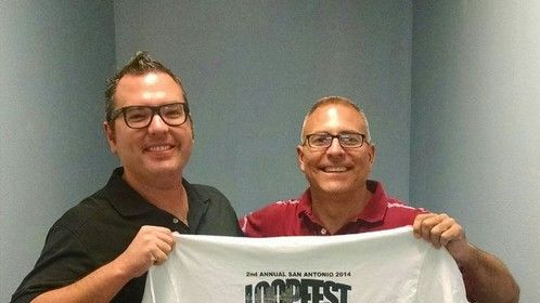 With guest John Allen of Just Alliance after his return home from touring!