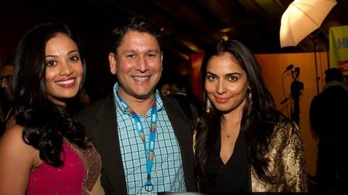 With Ami Sheth, and Neelu Sodhi at the South Asian Film Festival at the SVA Theater last night.