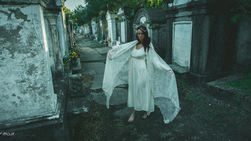 I photographed New Orleans model, Caitlin Ciara, in a local cemetery. It was a very creative time for both of us.