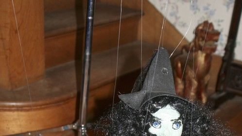 Witch marionette by Penelope Torribio