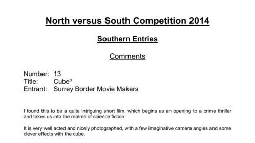 Judges Comments from 7th December North vs South competition