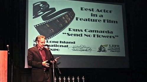 """Winning best actor award for the film """"Send No flowers"""""""