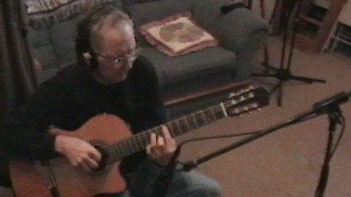 """In the studio, working on """"A Classical Mood"""" (2008)"""