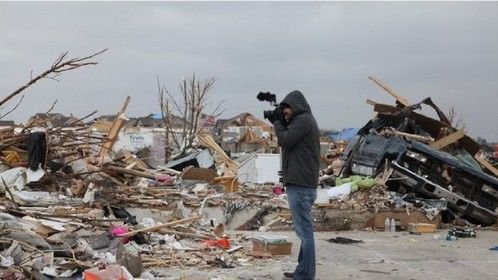 Behind the Scenes as Acuff shoots a Documentary after the Illinois Tornado of 2013