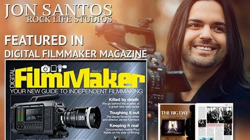 Jon Santos / Rock Life Studios is featured in a full 6 page spread in the new issue of Digital Film Maker Magazine. You can get a copy right now over in your iTunes Store or at your local barnes and noble.