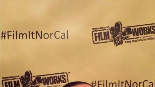 At the Filmworks rally in June 2014