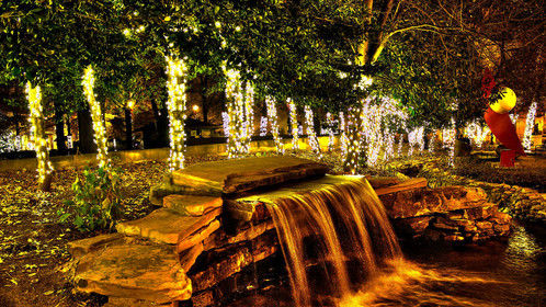 Christmas Waterfall, Knoxville, TN