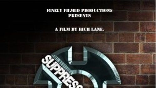 This is a teaser poster for Suppressor featuring the redesigned logo  created by Tami Sabo of In New Light Video Magazine.