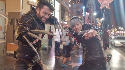 RAN INTO HOLLYWOOD BLVD's OWN WOLVERINE!