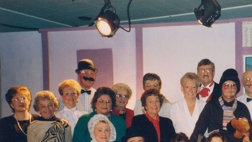 The Cast of Lily the Felon's Daughter at Oakbrook Golf and Country Country Dinner Theater. 1993.  I played The French Maid.