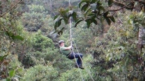 Zip Lining Between Mountains in Peru 2014