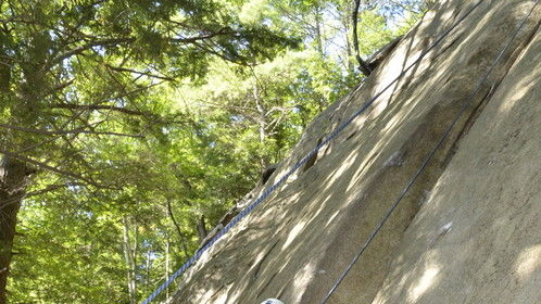 Rock climbing in New Hampshire