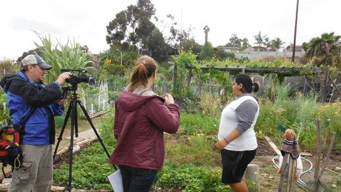 "Filming ""Chasing the Kale"" in San Diego as part of the One Day on Earth global collaborative film project."