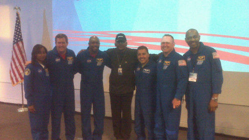 Me with most of the recent STS Astronauts at NASA-JPL.