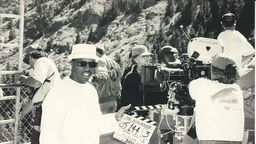 Marvin on the Sunchaser set with Academy Award Winning director Michael Cimino