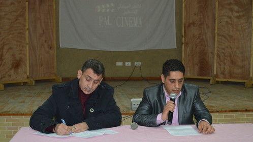 اثناء مناقشه فيلم ناجى العلى فى حضن حنظلة مع المخرج فايق جرادة