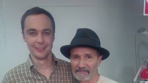 "On the set of ""Visions"" with Jim Parsons"