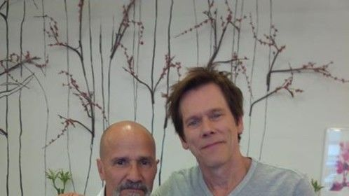 "On the set of ""6 Miranda Drive"" with Kevin Bacon"