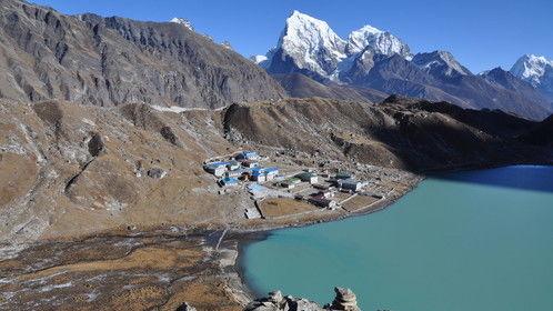 Gokyo Lake in Nepal Himalayas