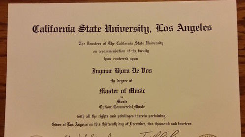 Graduated from CSU Los Angeles! Master of Music :)