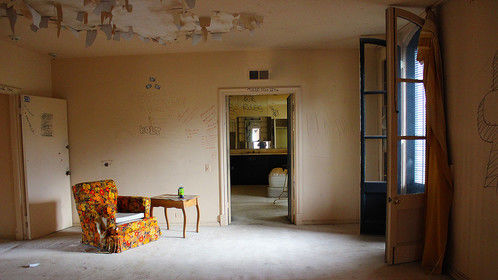 The room behind the secret door.   Abandoned Minelli Mansion.