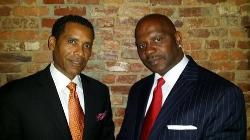 """Congressman Styles (Lamont Easter) and Mayor Tony (Adiyb Muhammad) from the upcoming independent film """"Second Chance"""" from Randall Lawarence Films coming in 2015"""