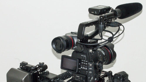 This rig was designed by cameraman Gaetan Mariage to have the same form factor as a betacam type or ENG camera. It allows for one-man operation, key element in investigative journalism and low budget productions, while combining the highest standards of video technology with photographic optical quality. It's compact and modular design makes it suitable for any kind of filming configuration.  The EOS C100 uses the same Super 35mm Canon CMOS sensor and DIGIC DV III image processor as its big brother, the C300.  Picture profiles based on Canon's Cinema Log can be created and tweaked on-the-fly.  For slo-mo, the 1080i60 can be de-interlaced to 30p or 24p, giving a similar result than the C300's internal 720p60.  The Atomos NINJA 2 records 1920x1080 24p//30p/60i directly from the camera's sensor to a SSD in Apple's ProRes edit-ready codecs.  The Ninja-2 encodes in real-time to 10-bit, 4:2:2 Apple ProRes at up to 220Mbps. No conversion process needed, ready for editing and color grading.  Back-up recording is provided by the camera's internal AVCHD codec.  LENS MOUNT: It's EF lens mount makes the camera compatible with the full range of Canon lenses and third party high quality lenses such as Zeiss and Voigtlander. EVF: A heavy duty Electronic Viewfinder with Retina quality was added and calibrated to provide optimal monitoring in shoulder operation mode.  POWER: This system is designed by Anton Bauer to provide power to the C100. It also powers the NINJA recorder and the EVF.